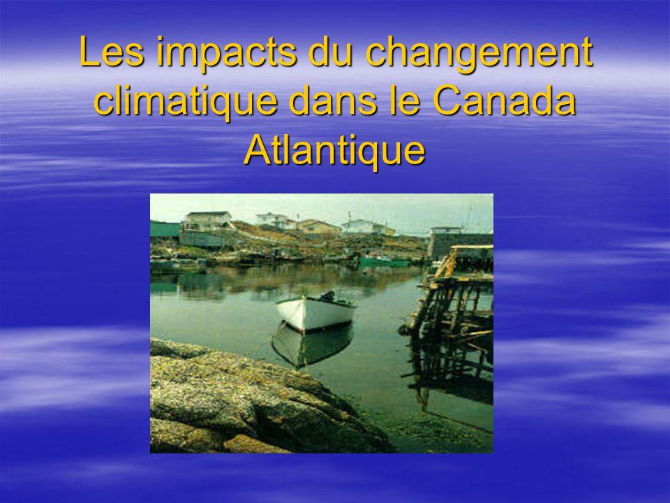 Les impacts du changement climatique dans le Canada Atlantique