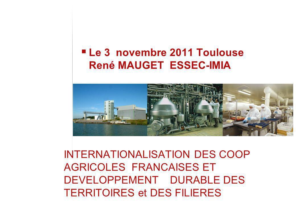Le 3 novembre 2011 Toulouse René MAUGET ESSEC-IMIA