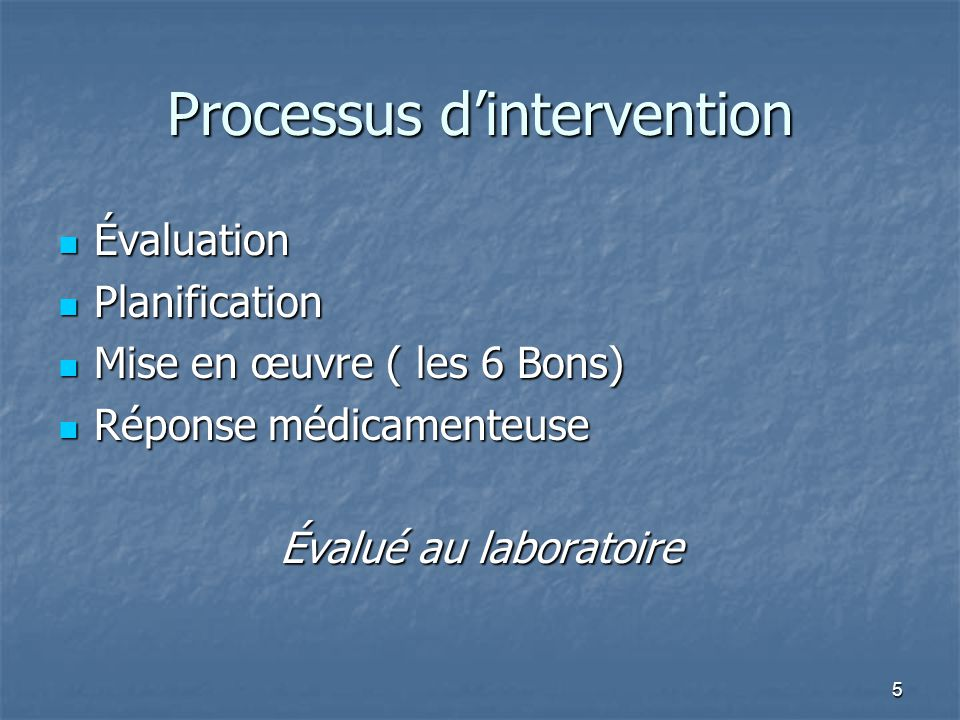 Processus d'intervention