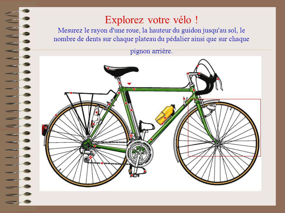Explorez votre vélo !