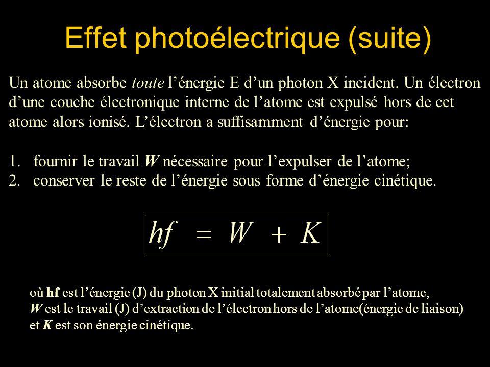 Effet photoélectrique (suite)