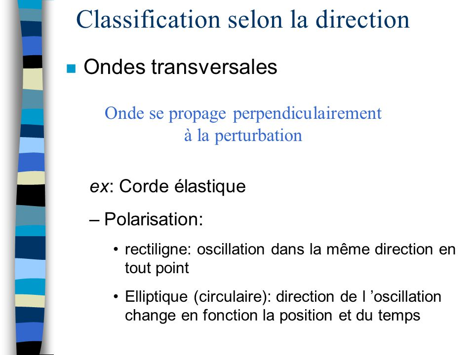 Classification selon la direction