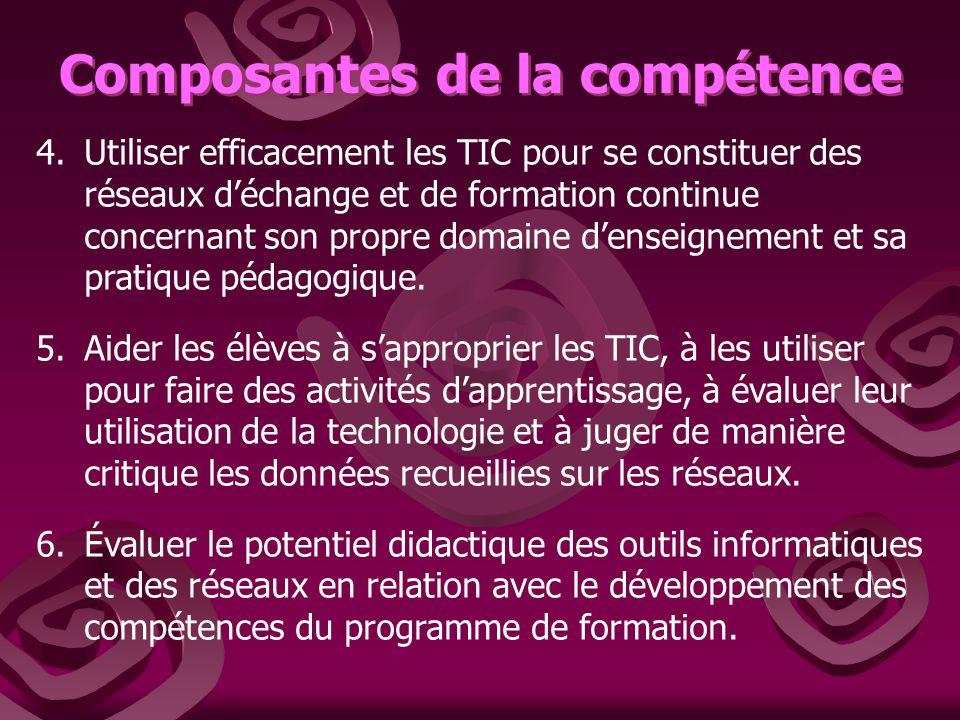 Composantes de la compétence