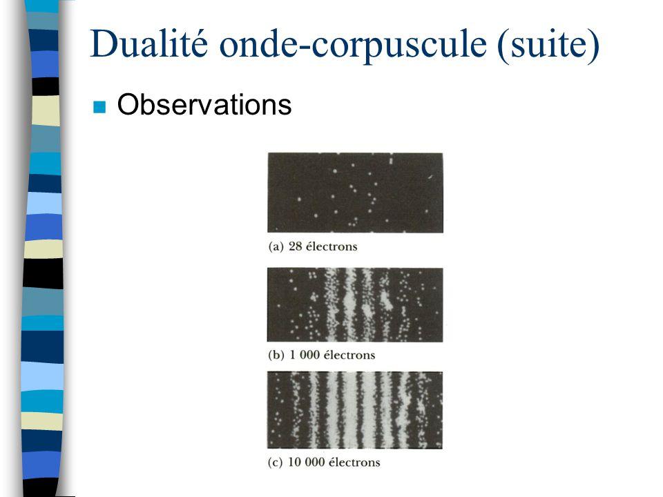Dualité onde-corpuscule (suite)