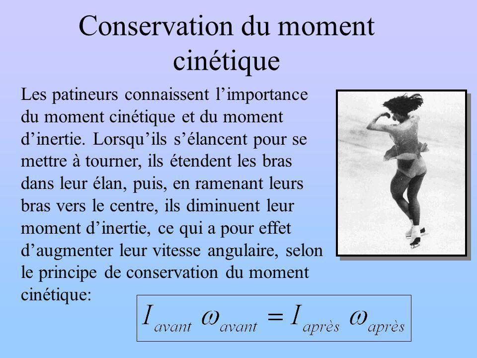 Conservation du moment cinétique