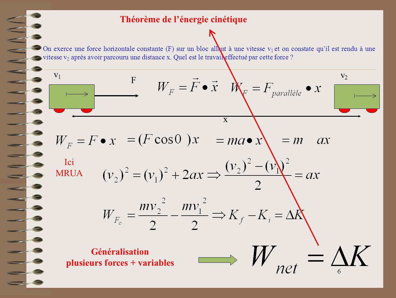 plusieurs forces + variables