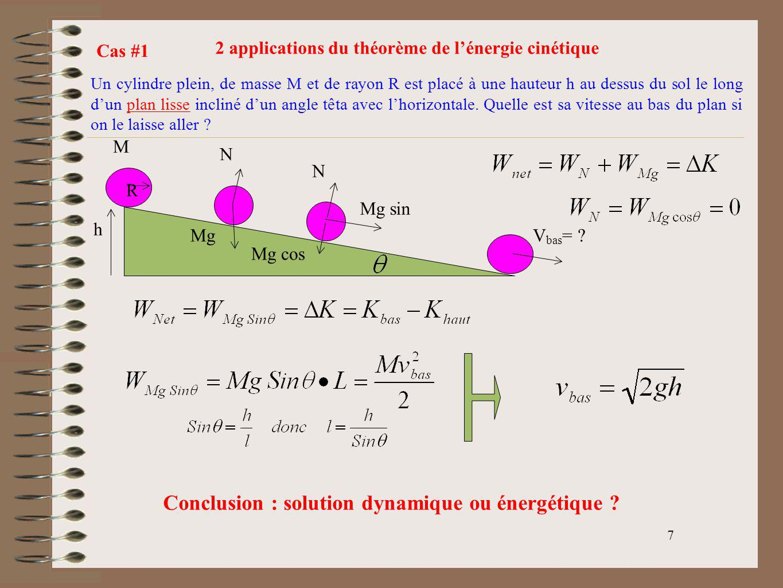 Conclusion : solution dynamique ou énergétique