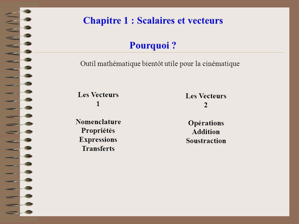 Chapitre 1 : Scalaires et vecteurs
