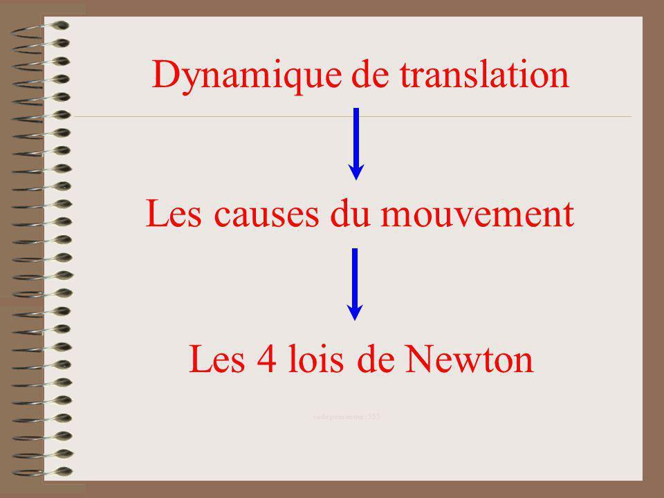 Dynamique de translation