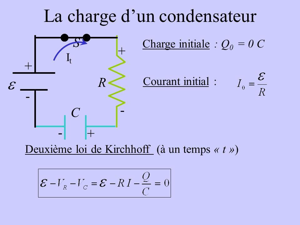 La charge d'un condensateur