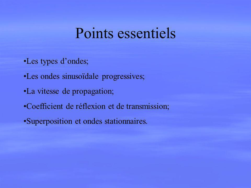 Points essentiels Les types d'ondes;