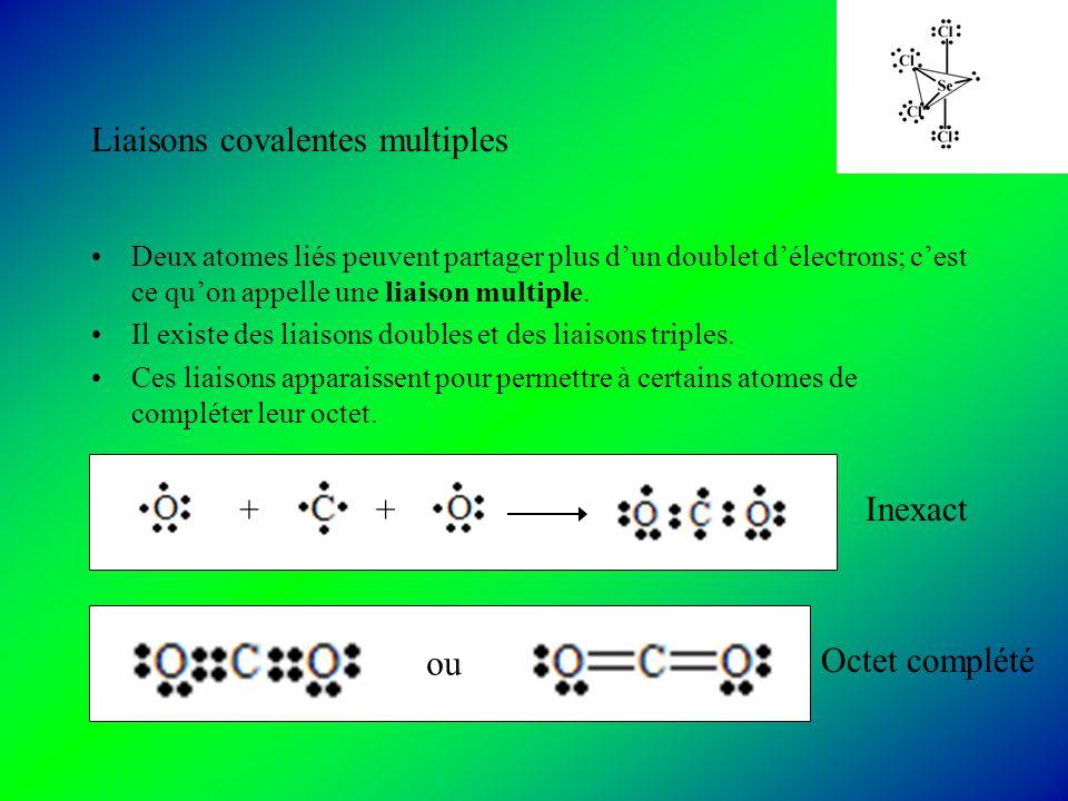 Liaisons covalentes multiples