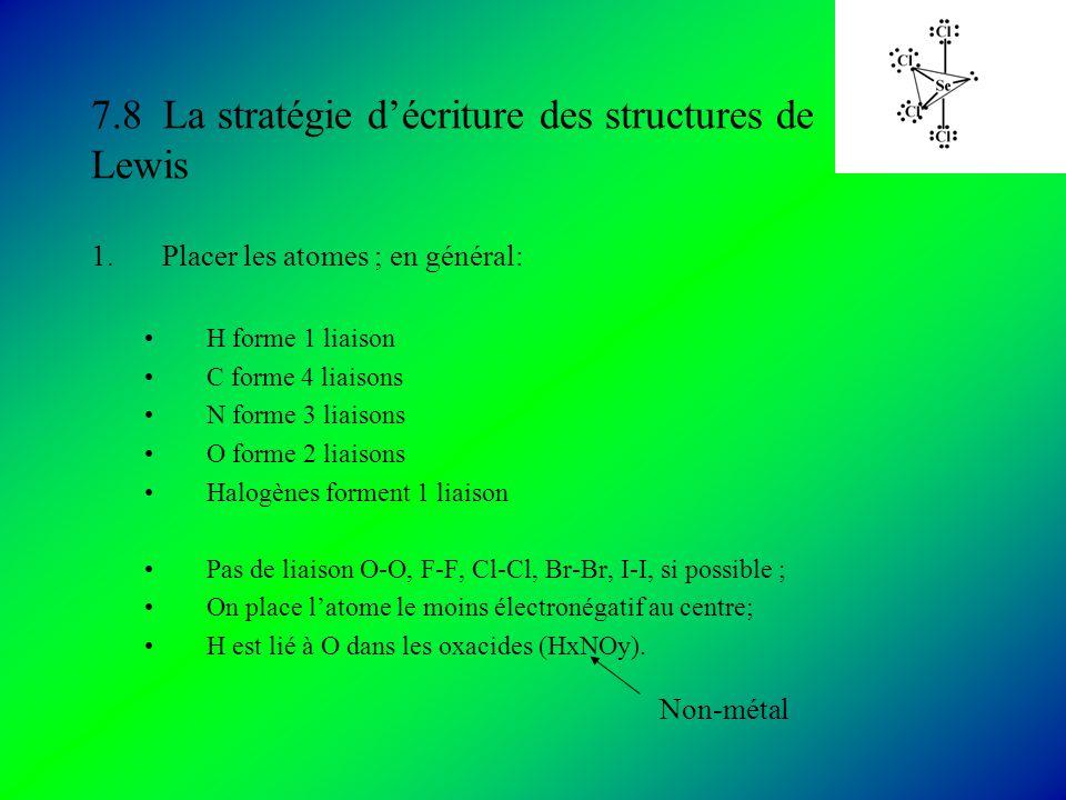 7.8 La stratégie d'écriture des structures de Lewis