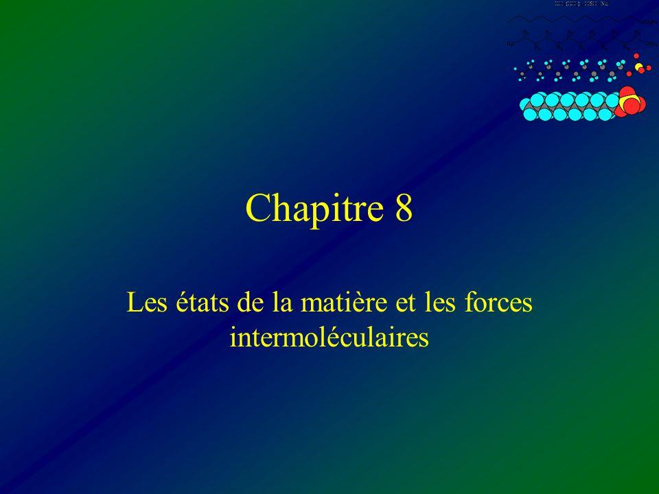Les états de la matière et les forces intermoléculaires