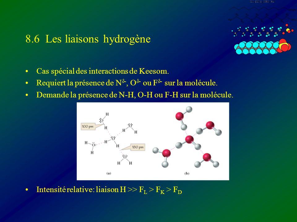 8.6 Les liaisons hydrogène