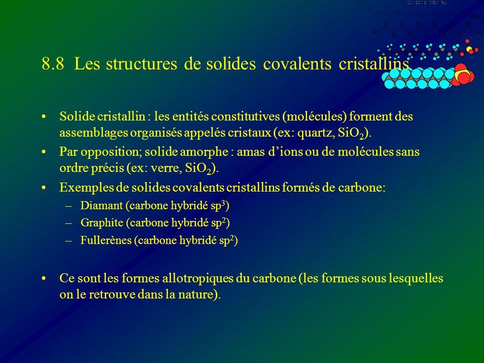 8.8 Les structures de solides covalents cristallins