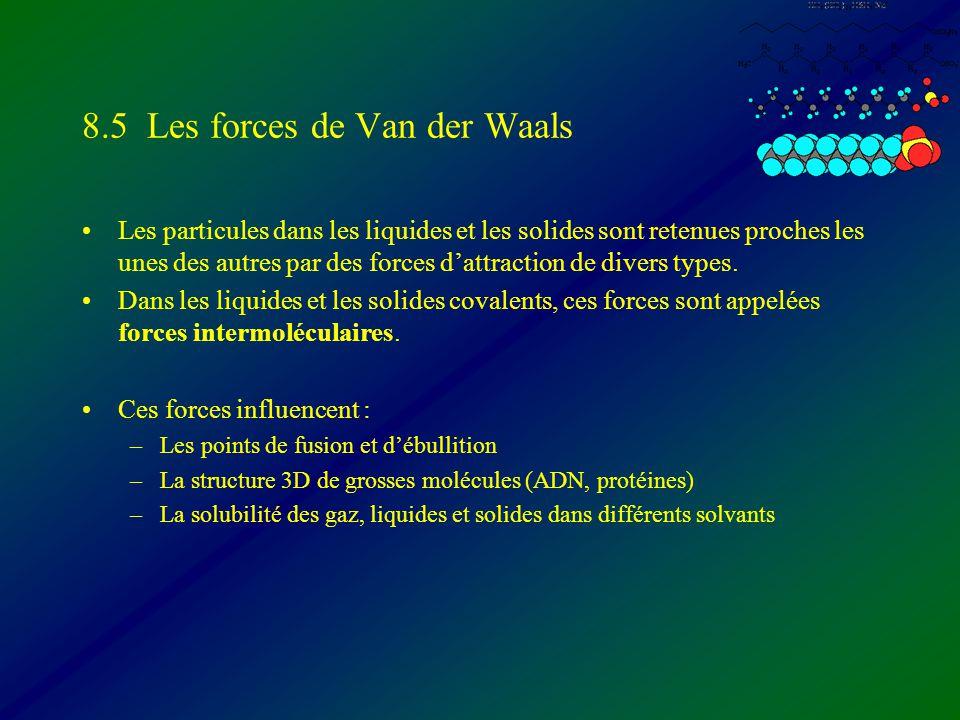 8.5 Les forces de Van der Waals