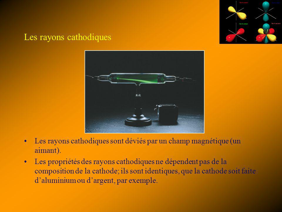 Les rayons cathodiques