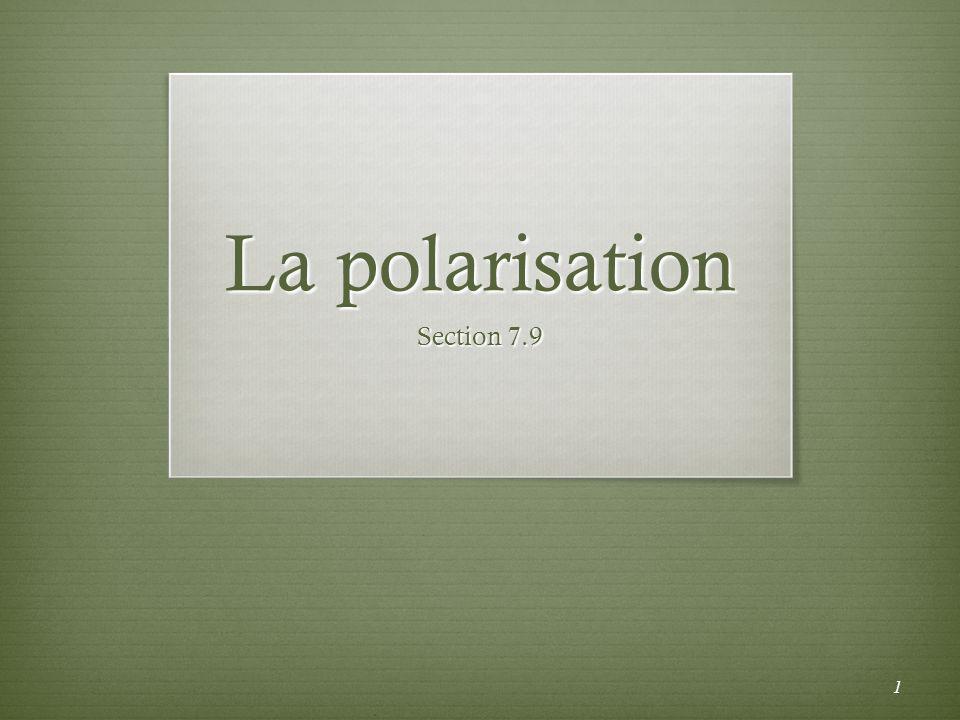 La polarisation Section 7.9