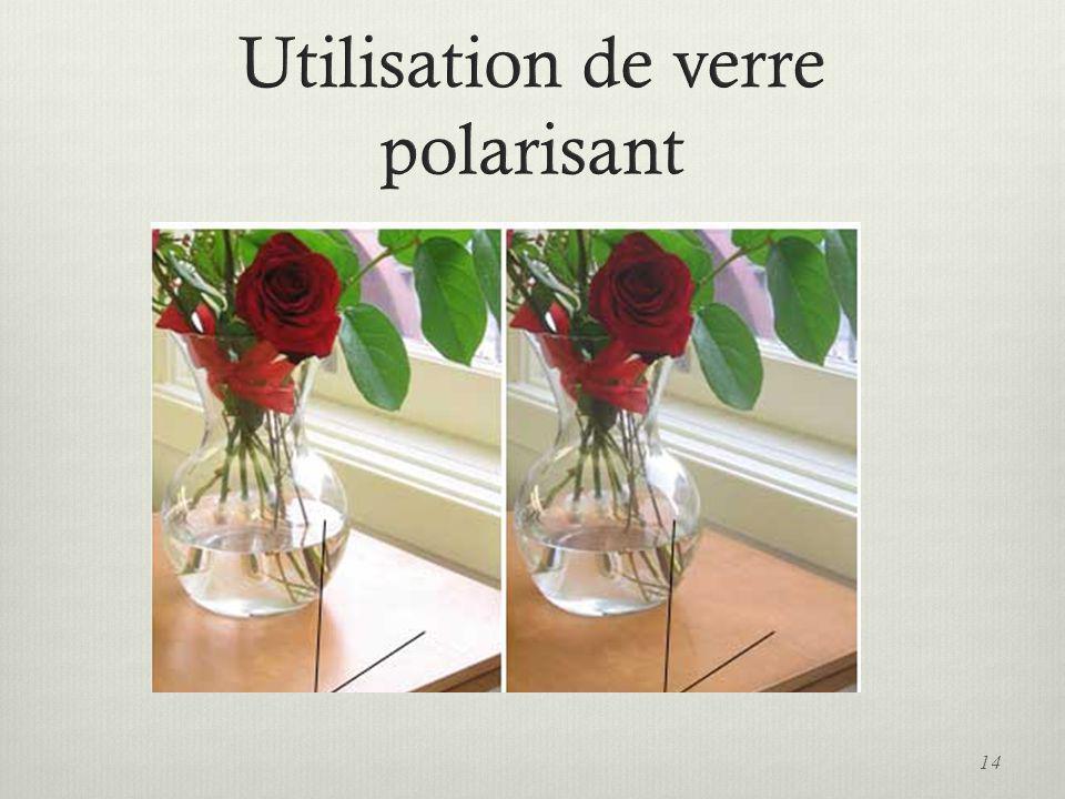 Utilisation de verre polarisant