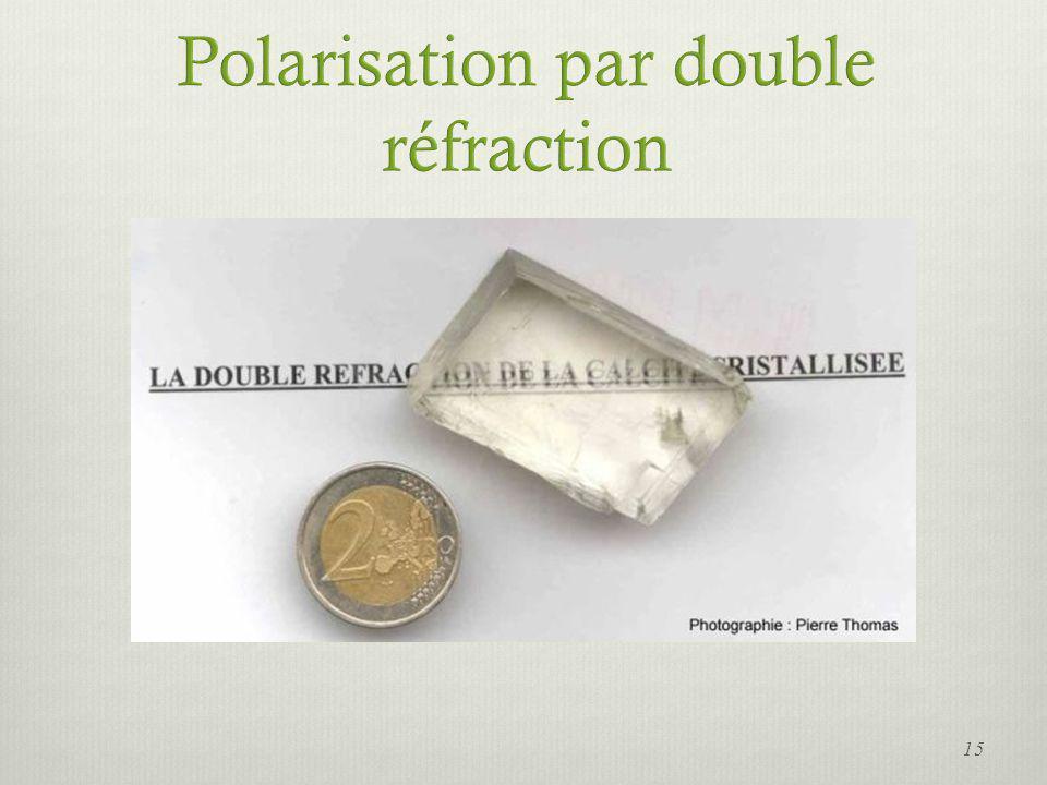 Polarisation par double réfraction