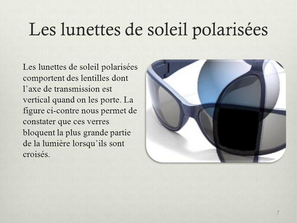 Les lunettes de soleil polarisées