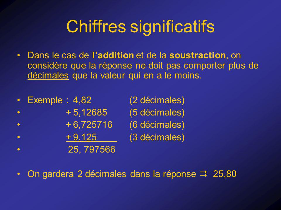 Chiffres significatifs