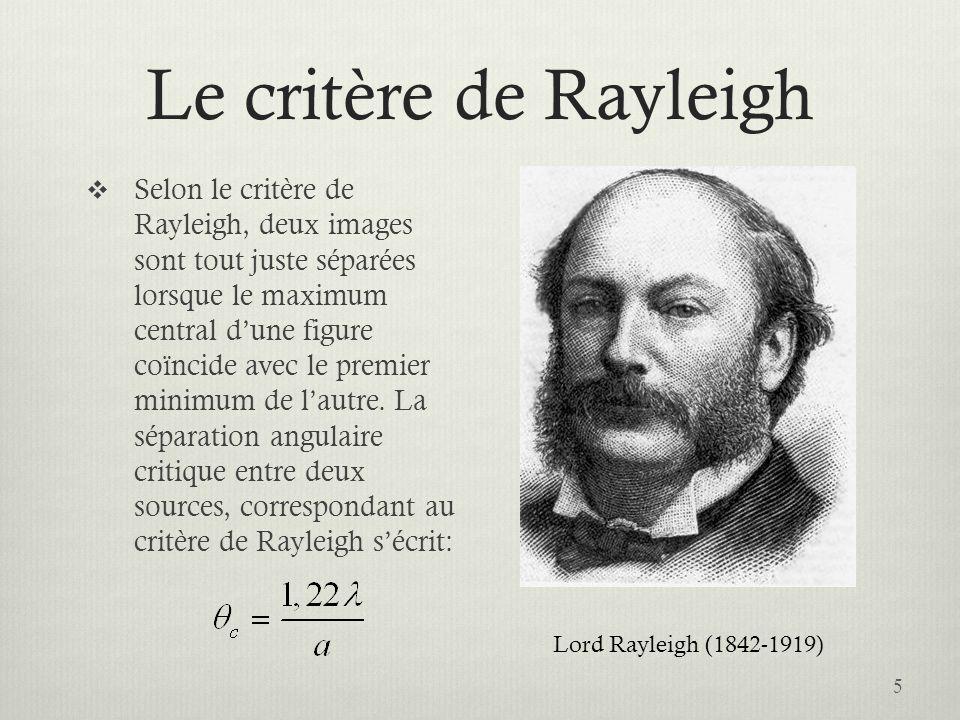 Le critère de Rayleigh
