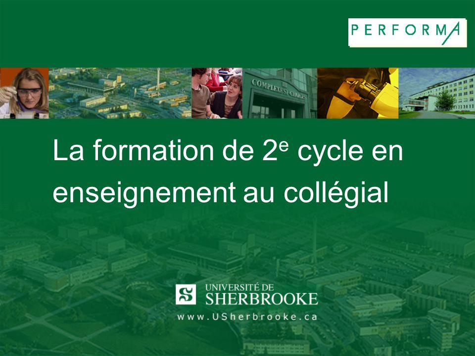 La formation de 2e cycle en enseignement au collégial