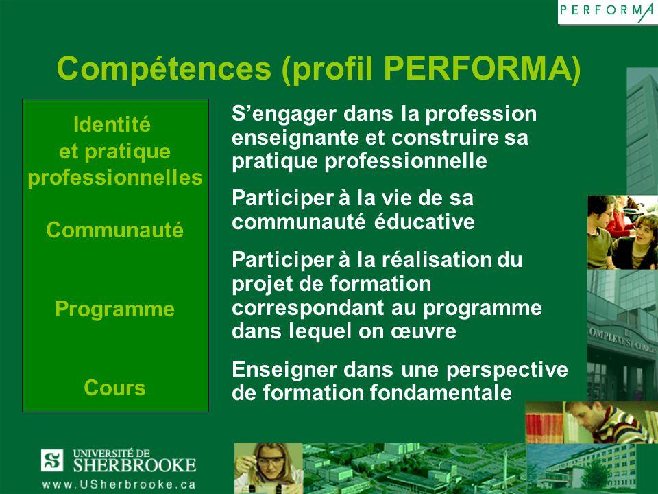 Compétences (profil PERFORMA)