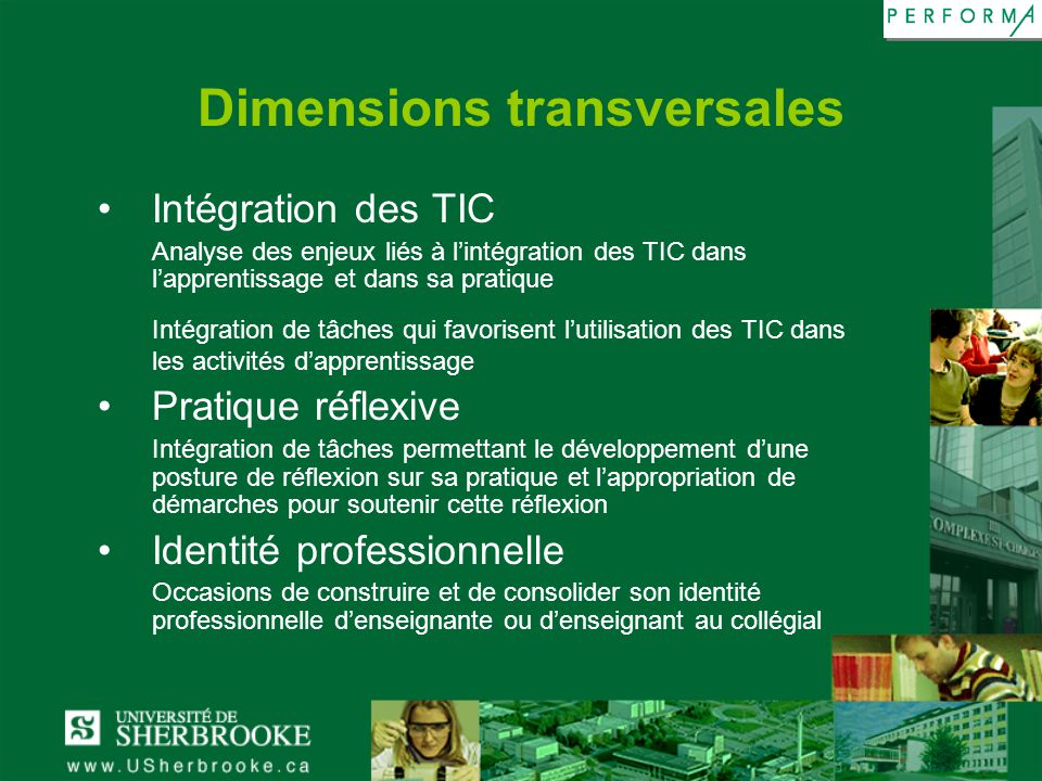 Dimensions transversales