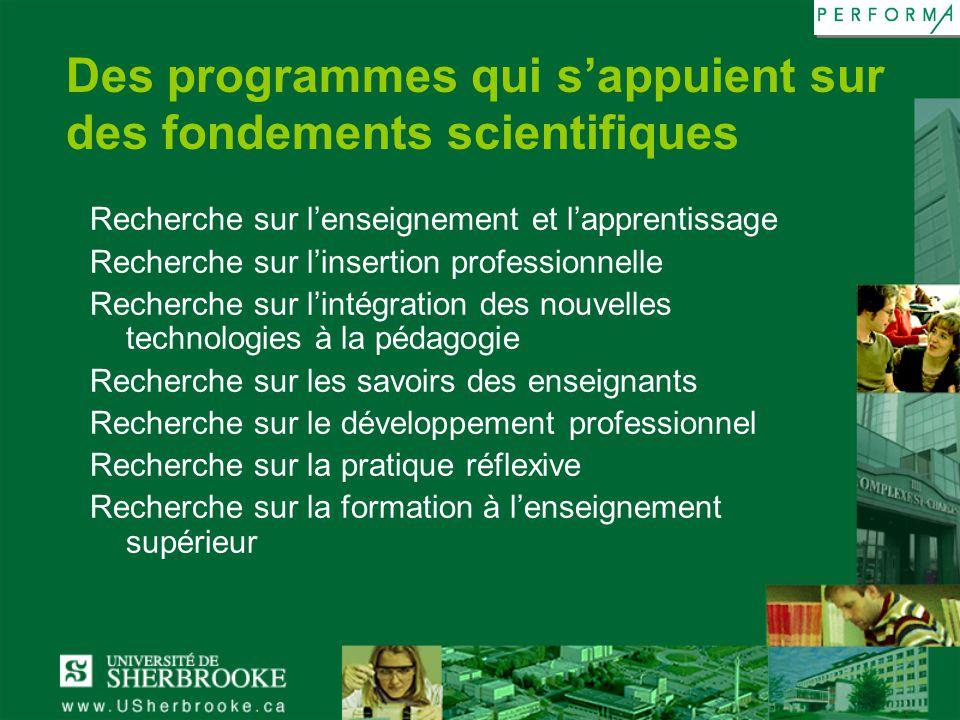 Des programmes qui s'appuient sur des fondements scientifiques