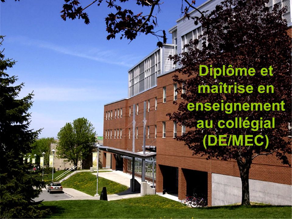 Diplôme et maîtrise en enseignement au collégial (DE/MEC)