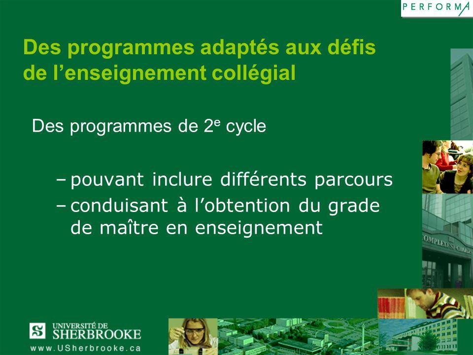 Des programmes adaptés aux défis de l'enseignement collégial