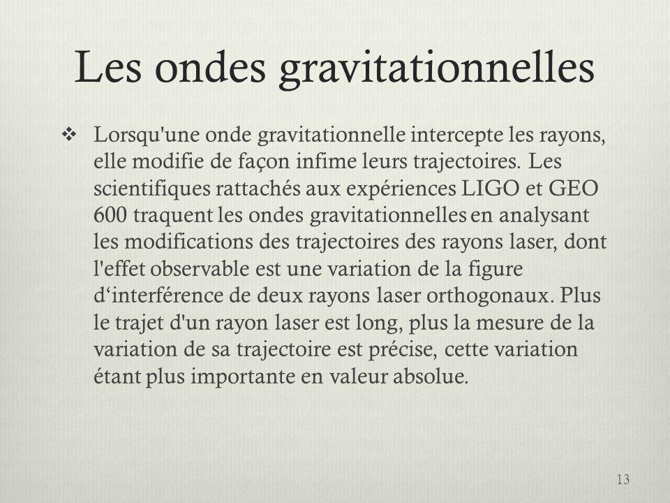 Les ondes gravitationnelles