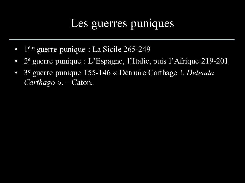 Les guerres puniques 1ère guerre punique : La Sicile 265-249