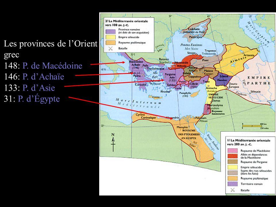 Les provinces de l'Orient