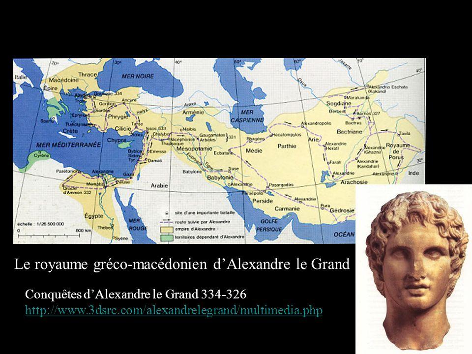 Le royaume gréco-macédonien d'Alexandre le Grand