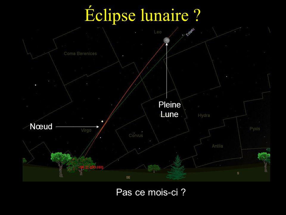 Éclipse lunaire Pleine Lune Nœud Pas ce mois-ci