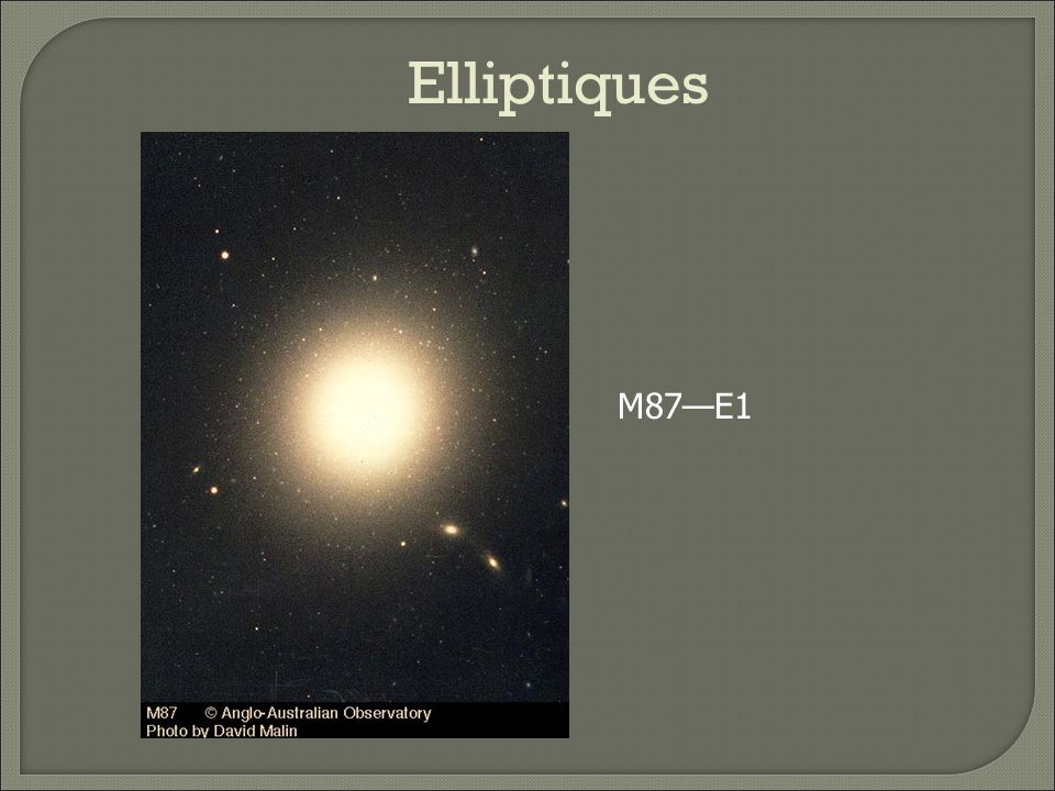 Elliptiques M87—E1