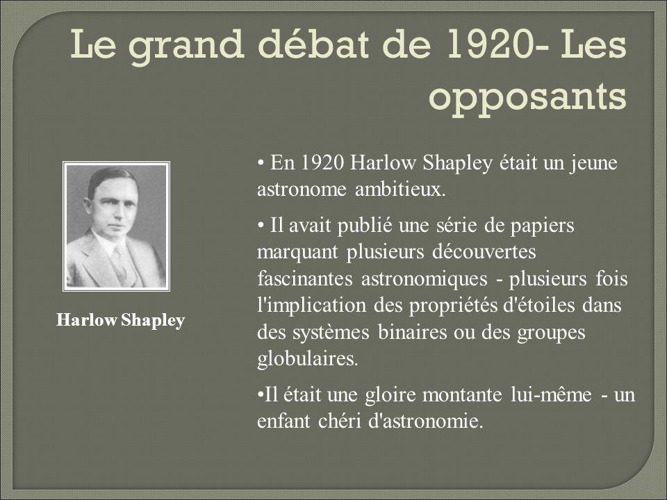 Le grand débat de 1920- Les opposants