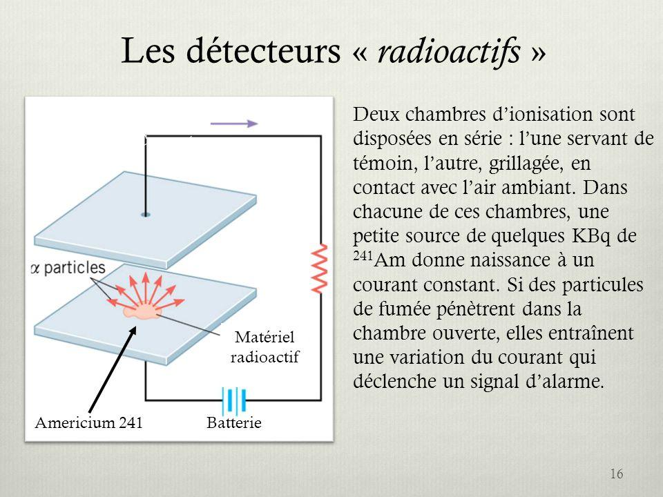 Les détecteurs « radioactifs »