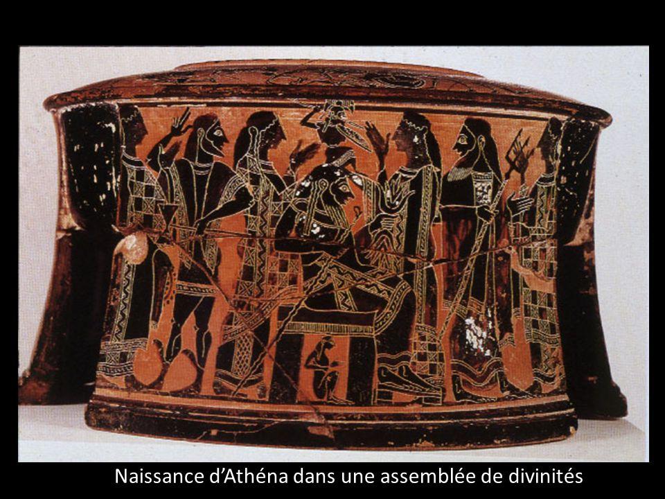 Naissance d'Athéna dans une assemblée de divinités