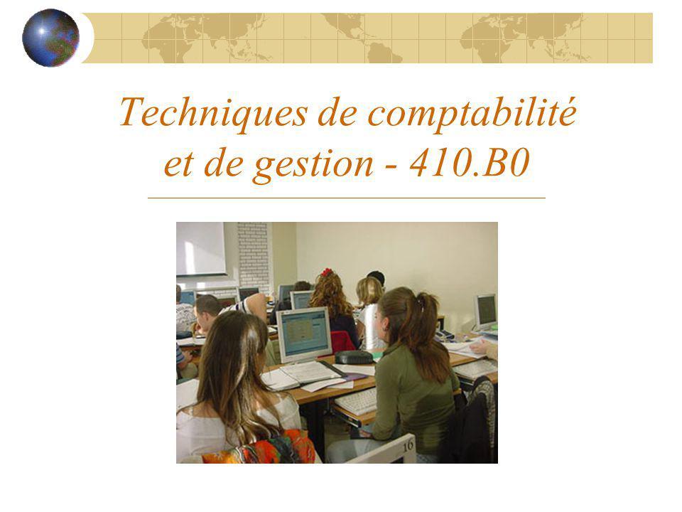 Techniques de comptabilité et de gestion - 410