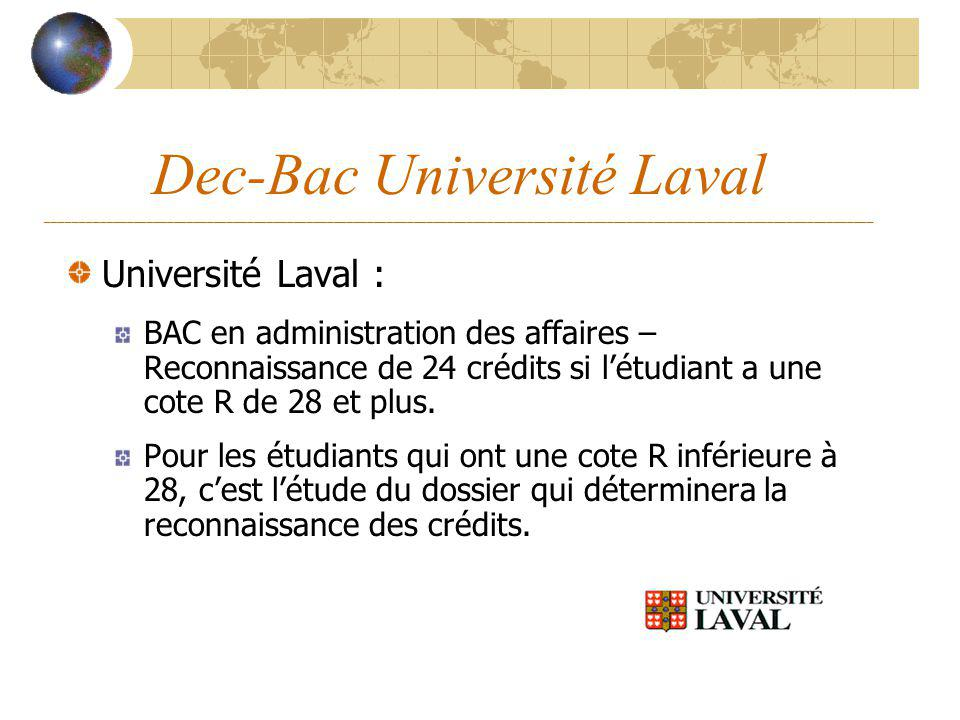 Dec-Bac Université Laval ____________________________________________________________________________________________________________________________