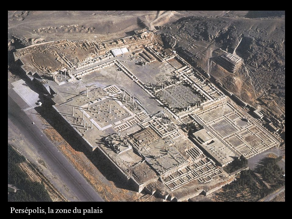 Persépolis, la zone du palais