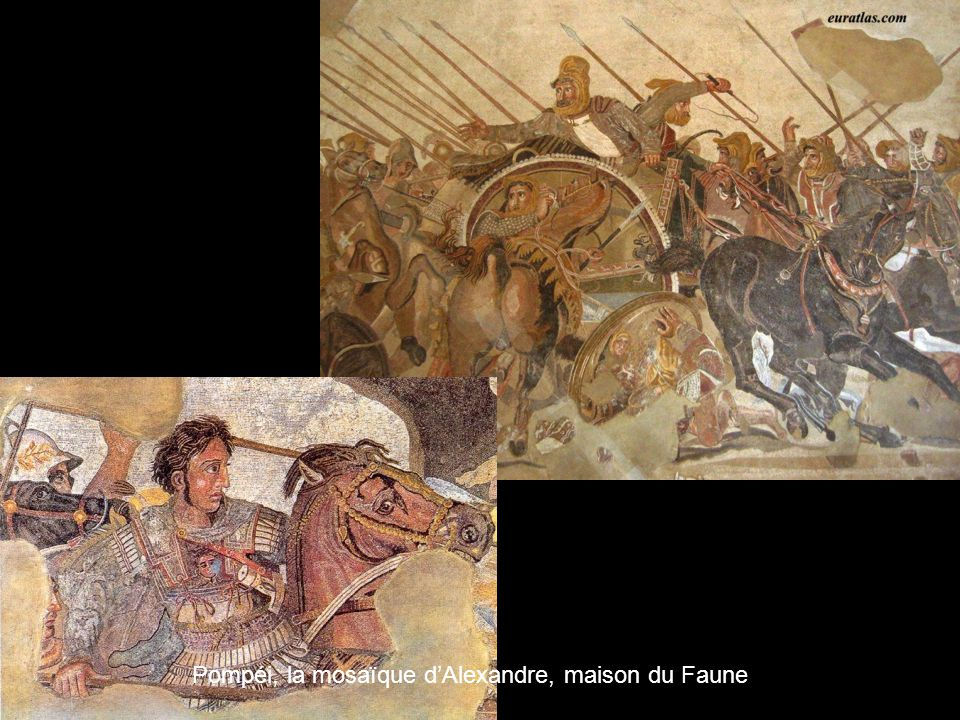 Pompéi, la mosaïque d'Alexandre, maison du Faune