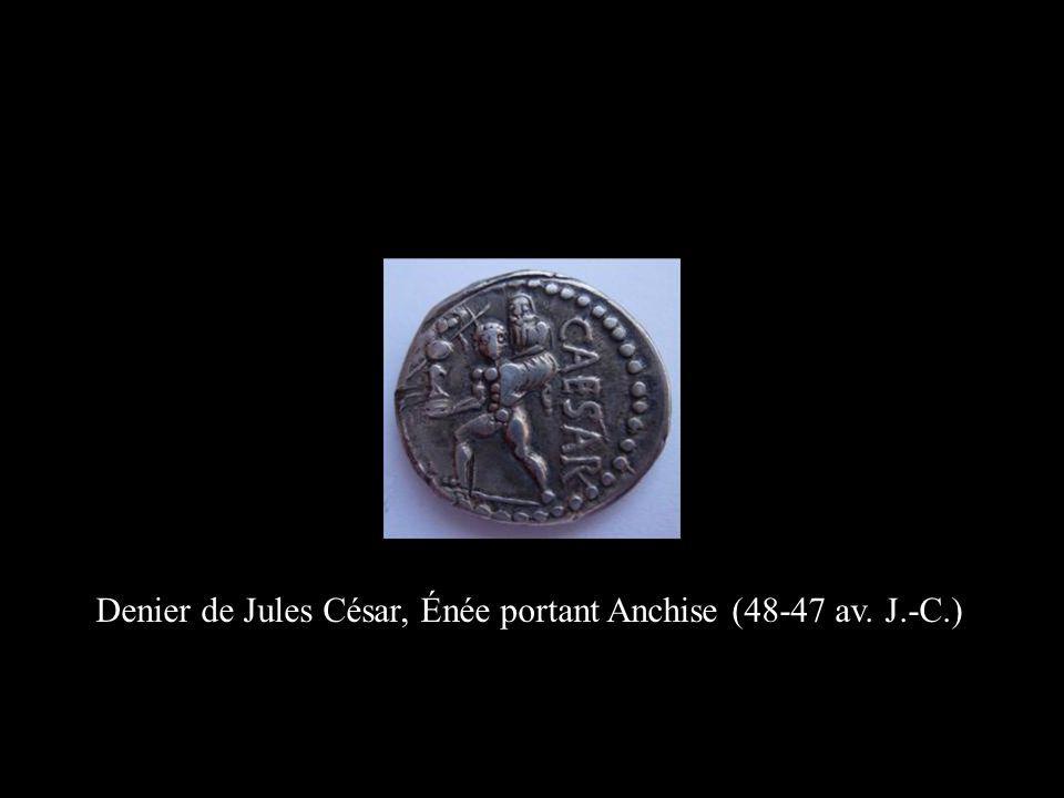 Denier de Jules César, Énée portant Anchise (48-47 av. J.-C.)