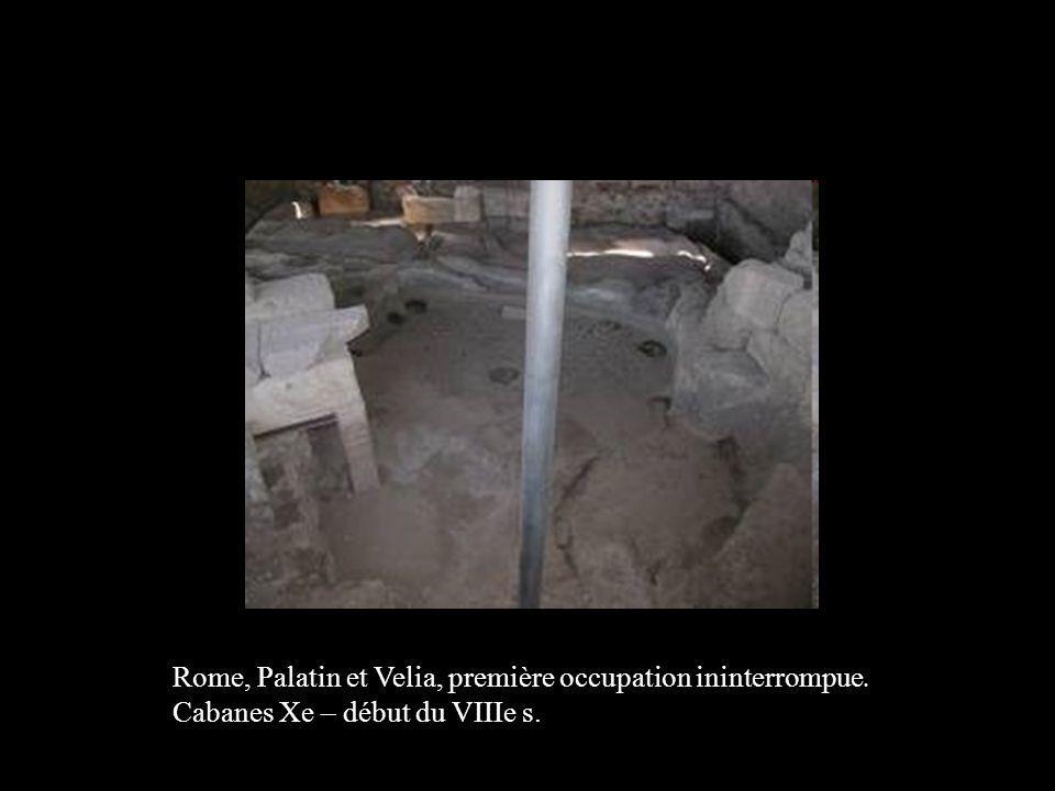 Rome, Palatin et Velia, première occupation ininterrompue.