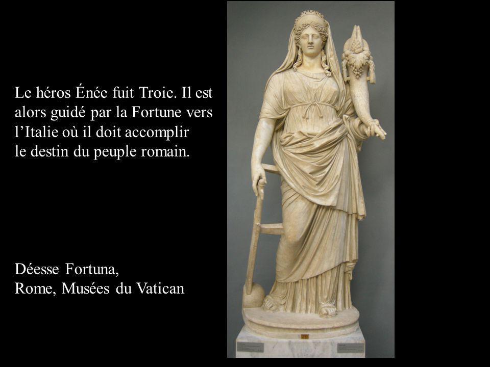Le héros Énée fuit Troie. Il est